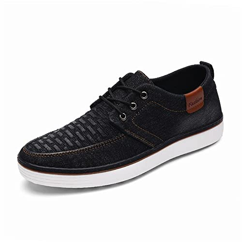 Moda Hombre Zapatillas Casual Jeans Pure Color Youth Trend Zapatos de Lona dsiaswa (Color :