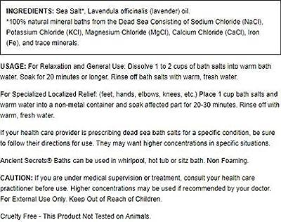 Ancient Secrets Aromatherapy Dead Sea Mineral Baths Lavender - 2 lbs