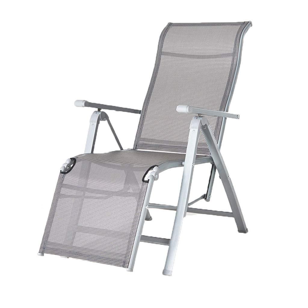 KAI LE Multifunktions-Büro-Mittagspause-Stuhl, einzelnes Klappbett, Siesta-Bett, Balkon-Klubsessel, Computer-Stuhl
