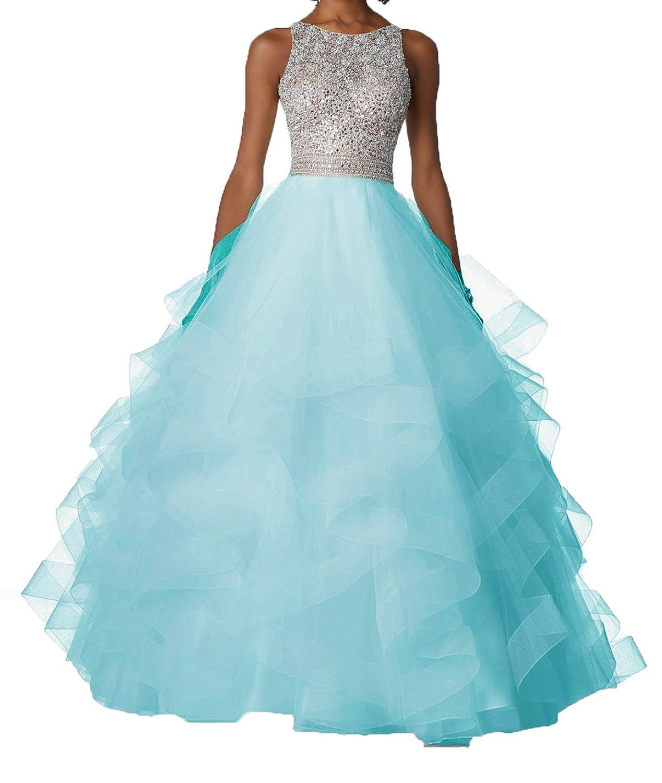 Amazon.com: Bonnie_Shop Bonnie Sexy Beaded Two Piece Prom Dresses ...