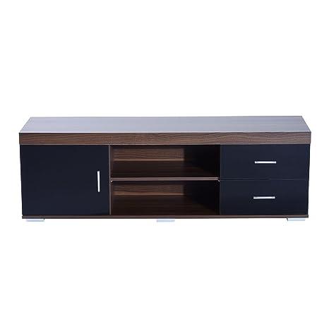 Brilliant Homcom Tv Stand W 1 Door 2 Drawers Shelves Entertainment Center Media Console Storage Cabinet 140Cm Download Free Architecture Designs Grimeyleaguecom