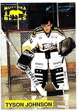 Amazon com: (CI) Tyson Johnson Hockey Card 1991-92 Muskoka