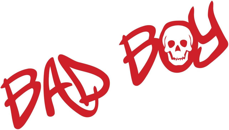 Kleb Drauf 1 Bad Boy Rot Glänzend Autoaufkleber Autosticker Decal Aufkleber Sticker Auto Car Motorrad Fahrrad Roller Bike Deko Tuning Stickerbomb Styling Wrapping Auto