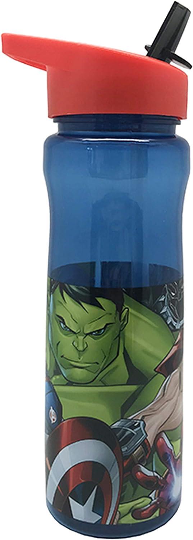 Marvel Los Vengadores - Botella de agua para niños niñas