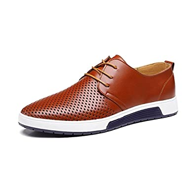 3d8de748102b1 JACKY'S 2018 Men and Women Casual Shoes Leather Summer Breathable Holes  Luxury Brand Flat Unisex Shoe