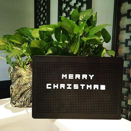Caja de luz DIY con letras de combinación flexible Caja de luz número de luz LED Decoración de luz nocturna (Black): Amazon.es: Jardín