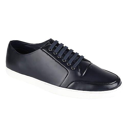 Buy Menz Blue PU Mens Sneakers, Casual