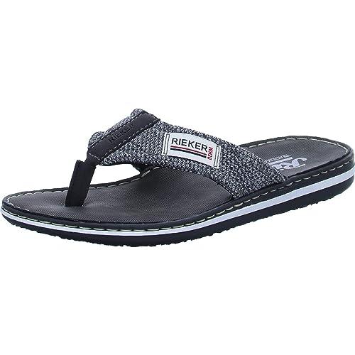 96efb4a3f44 Rieker Men's 21089-01 Flip Flops: Amazon.co.uk: Shoes & Bags