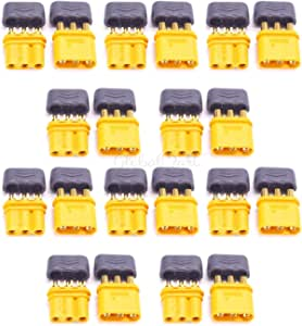Part & Accessories New Amass Upgrated of XT30 Connector MR30 Connector Plug Female and Male Connector Plugs Gold Plated for RC Parts Accessories - (Color: 5 Pairs)