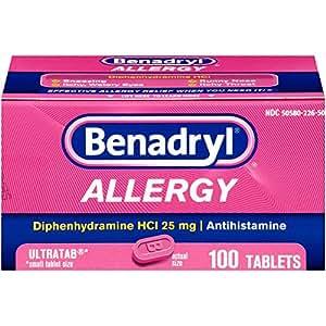 Benadryl Allergy Ultratabs Tablets, 100 Count