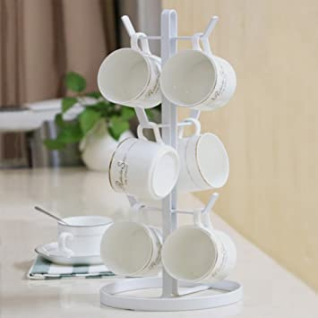 Mug Holders Stainless Steel,European Style Coffee Cup Stand Vertical Mug  Hanging Rack Nail