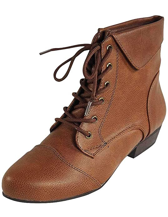 1940s Style Shoes Breckelles - Ladies Indy-11 Bootie Boot $15.83 AT vintagedancer.com