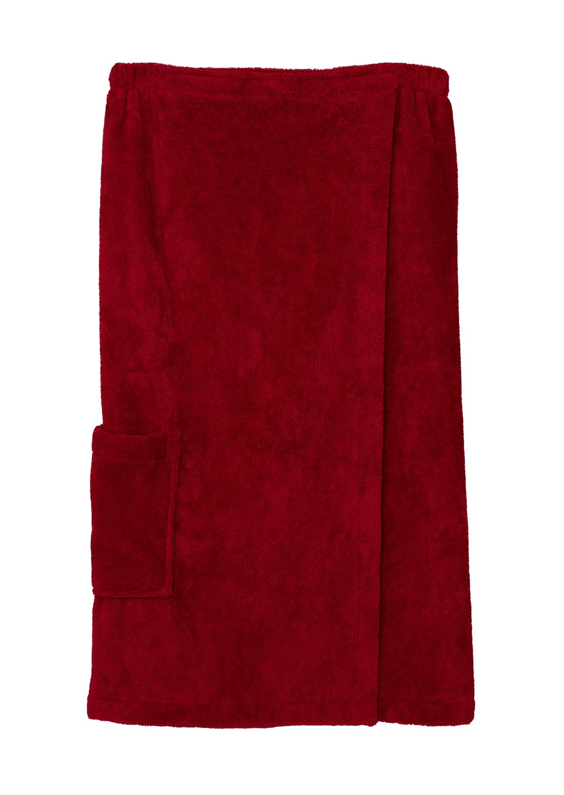 TowelSelections Women's Wrap, Shower & Bath, Water Absorbent Cotton Lined Fleece Large/X-Large American Beauty by TowelSelections (Image #1)