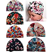 Qandsweat Baby Girl Hats Knotted Rabbit Ear Style Turban Headband Cap 6-36M