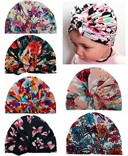 Qandsweat Baby Girl Hats Knotted Rabbit Ear Style Turban Headband Cap 6-36M