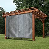 EZ2hang Gazebo Privacy Panel Adjustable Hanging Panel for Pergola/Porch/Patio 6x5ft Grey