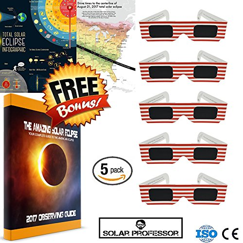 Price comparison product image Ownest Solar Eclipse Glasses 2017 Galaxy Edition (5 Pack) CE and ISO Standard Viewing Protect Eyes From Watching Solar Eclipse