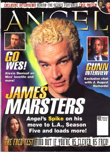 Official Angel Magazine From Buffy the Vampire Slayer Issue #2 VARIANT COVER James Marsters Angel's Spike on his move to L.A., season Five and loads more!