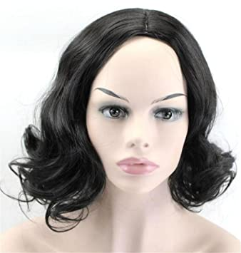 Amazon.com  Curly Women s Wig Hairstyle Short Hair Haircut Lace Half ... 09356ad7c2f6