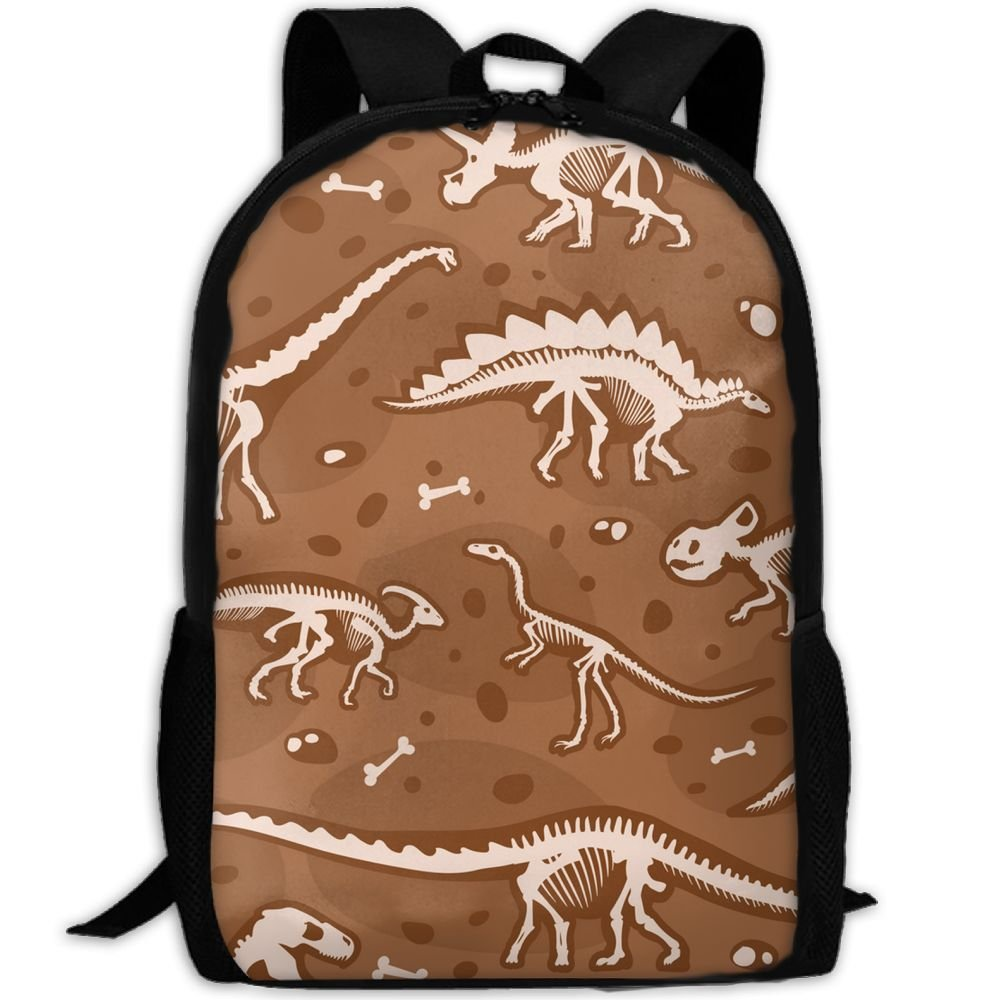 Sara Nell学校バックパック恐竜ボーン学校ブックバッグカジュアルアウトドアデイパック旅行用バッグティーンボーイズガールズカレッジ学生 B07F6VLSFV