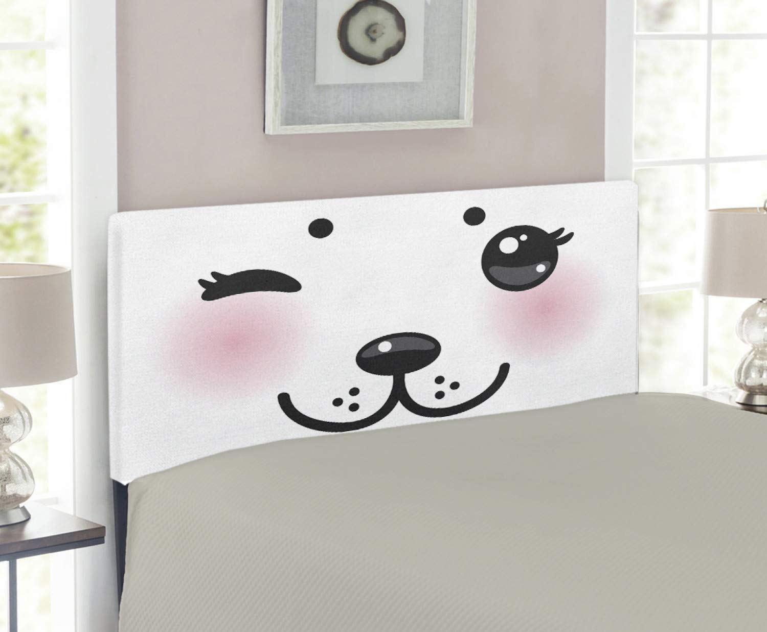 hot sale online ba808 daa31 Amazon.com - Lunarable Kawaii Headboard, Japanese Anime Dog ...