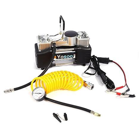 Amazon.es: DC 12 V 150PSI compresor de aire inflador de neumáticos de bicicleta coche Van Auto gran volumen inflador bomba