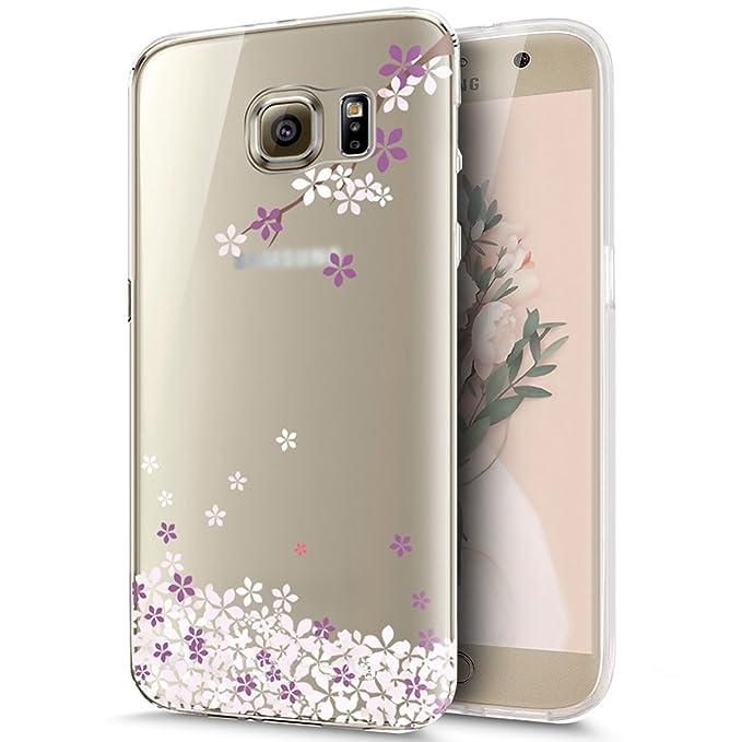 1 opinioni per ikasus Cover Galaxy S7,Custodia Galaxy S7 Cover,colorato Dipinto Fiore ciliegio