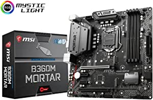 MSI Arsenal Gaming Intel Coffee Lake B360 LGA 1151 DDR4 Onboard Graphics CFX Micro ATX Motherboard (B360M Mortar)