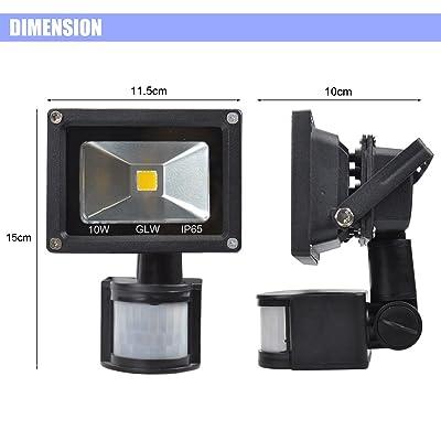 LED Flood Light PIR Motion Sensor Spot Lamp Spotlight Security 10W 12V