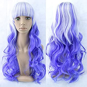 Jody Cheap Synthetic hair 70cm Long Women Hair Ombre Color High Temperature Fiber Wigs Synthetic Hair