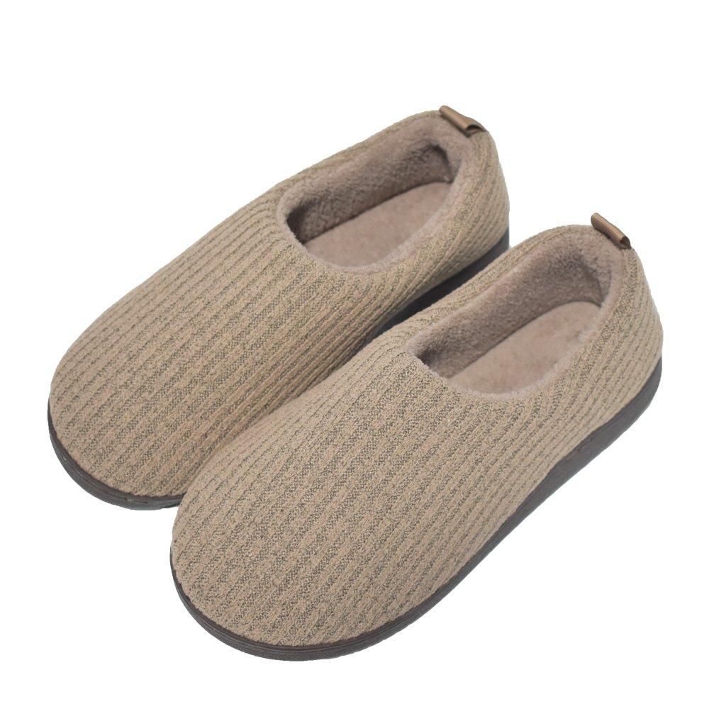 COFACE Herren Warme Slipper Hochwertige innengefütterte Hausschuhe Warme Rutschfest Pantoffeln für Winter/Herbst Grau