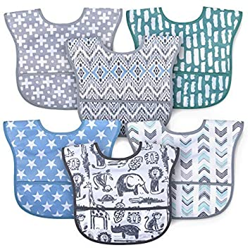 Bib with Food Catcher Baby Gift Baby Toddler Pocket Bib Baby Shower Gift Baby Bib Toddler Bib