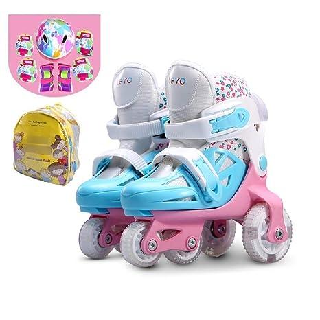 LXIANGP Zapatillas de Ruedas para niños y niñas LED Patines de Ruedas con Flash Patines para