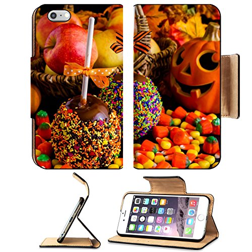 Liili Premium Apple iPhone 6 Plus iPhone 6S Plus Flip Pu Leather Wallet Case ID: 22691264 Hand dipped caramel apple covered with multi color (Halloween Dipped Cookies)