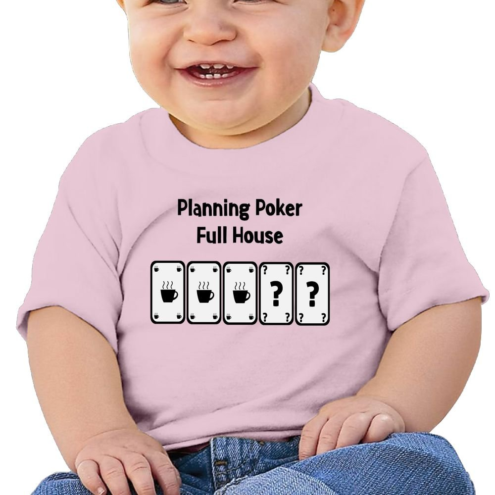 Planning Poker Baby Boy Clothes Short Sleeve Graphic Toddler T Shirt Boys Girls 6-24 Month