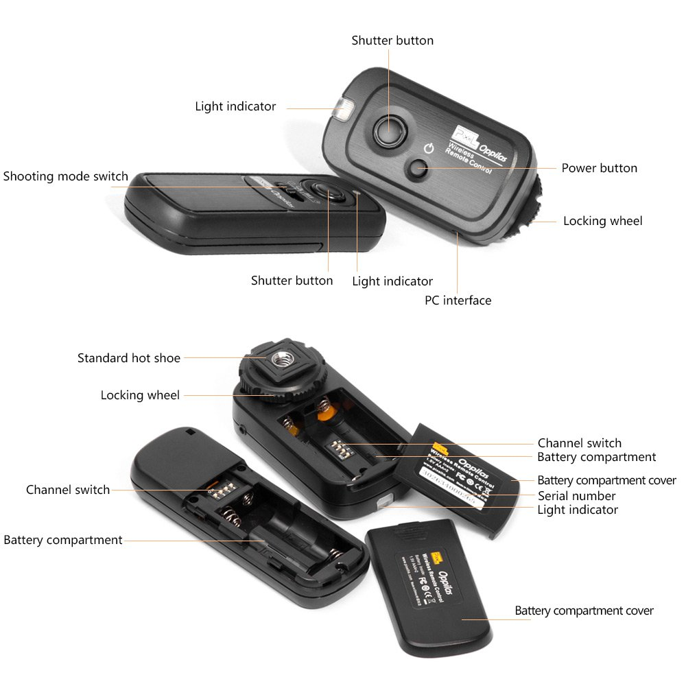 Amazon.com: PIXEL Oppilas/S2 Wireless Shutter Remote Control Release for Sony Micro single Digital Camera A58, NEX-3NL, A7R, A7, A7II, A7RII, A75, A6000, ...