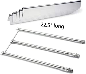 Votenli S753F (5-Pack) S750H for Weber Spirit E310 & E320, Spirit 700, Genesis Silver B & Silver C, Genesis Platinum B & C, Genesis Gold B & C, Weber 900 Burners and Flavorizer Bars Grill Parts