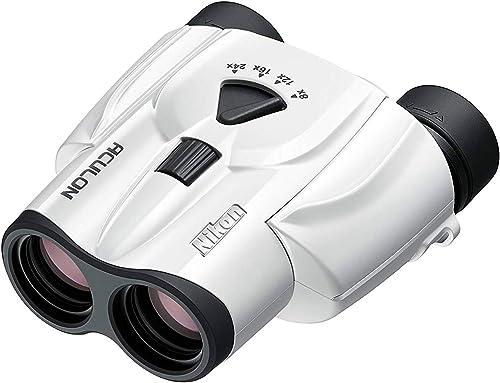 Nikon T118-24X25WH Aculon T11 8-24x25mm Compact Zoom Binocular,White 16008 – International Version