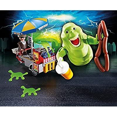 PLAYMOBIL Slimer with Hot Dog Stand: Toys & Games