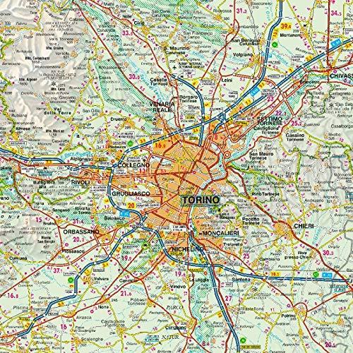 Cartina Valle D Aosta Stradale.Amazon It Carta Stradale Piemonte E Valle D Aosta 1 200 000 Libri