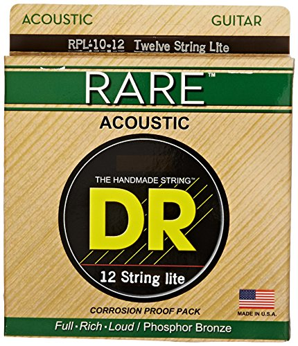 DR Strings Rare - Phosphor Bronze 12 String Acoustictic: - String Lite Bronze 12