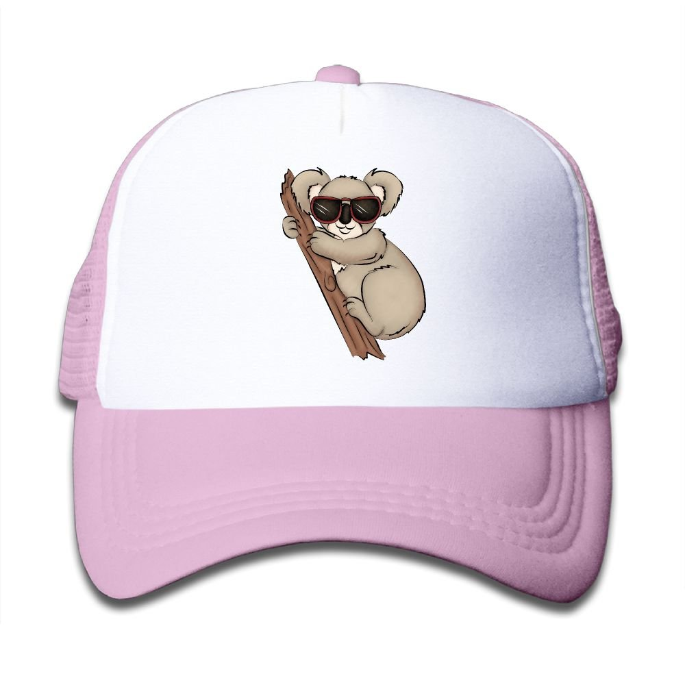 Kkidj Ooii Mesh Baseball Caps Mens&Girls Youth Snapback Hat Cool Koala With Glasses