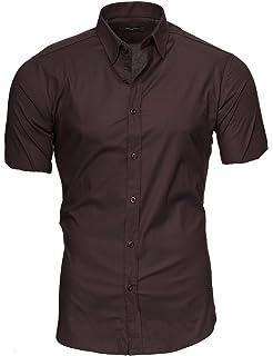 COOFANDY - Camisa de lino para hombre, manga corta, regular fit, para verano, de mezcla de algodón, ligera, para el tiempo libre, monocolor, sin planchado: Amazon.es: Ropa y accesorios