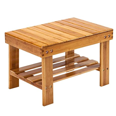 Awesome Ryokozashi Bamboo Step Stool 10 Inch High Multi Functional Wooden Stool Seat Kids Foot Stool Ideal For Bathroom Living Room Bedroom Laundry Room Or Creativecarmelina Interior Chair Design Creativecarmelinacom