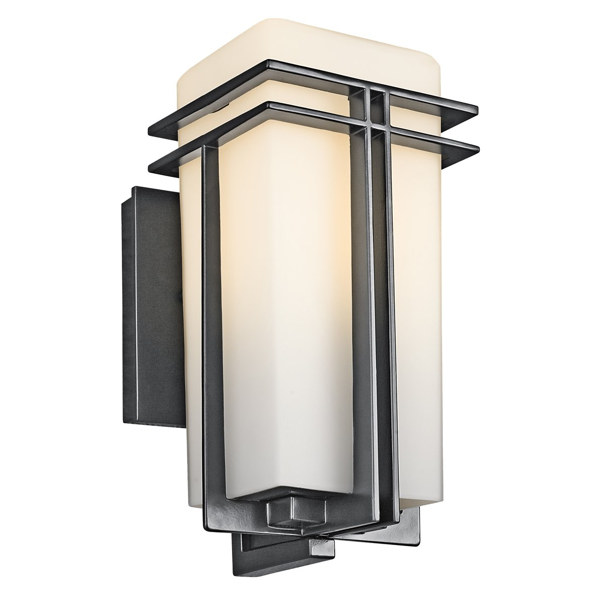 Kichler 49200BK One Light Outdoor Wall Mount   Wall Porch Lights    Amazon.com