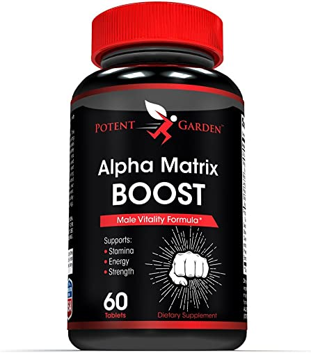 Alpha Matrix Testosterone Booster for Men – Increase Size, Strength, Stamina – Energy, Mood, Endurance Boost – All Natural Performance Supplement – Energy Pills for Men – 60 Capsules – Made in USA