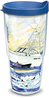 f7b88fc9c31 Tervis 1091705 Guy Harvey - Boat & Sailfish Tumbler with Wrap and Blue Lid  24oz,