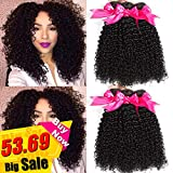 Hermosa 10A Brazilian Curly Hair 3 Bundles 12 14 16inch Good Quality Curly Weave Human Hair Bundles Soft Remy Hair