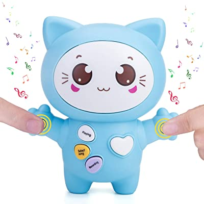 Sopu Touch Music Recording Cat Toys, Transmit Love Express Interactive Toy with Play Notes & Music, Bright LED Light, Demo and Talking Smart Gifts Cat Toy for Kids/ Lovers (Blue): Toys & Games [5Bkhe1904866]