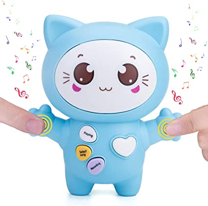 Transmit Love Express Interactive Toy with Play Notes /& Music Demo and Talking Smart Gifts Cat Toy for Kids// Lovers Bright LED Light Blue Sopu Touch Music Recording Cat Toys